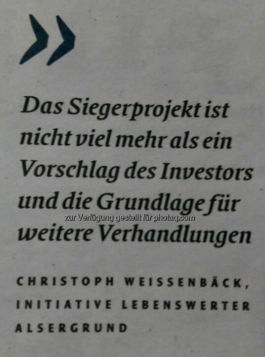Christoph Weißenbäck, Initiative Lebenswerter Althangrund
