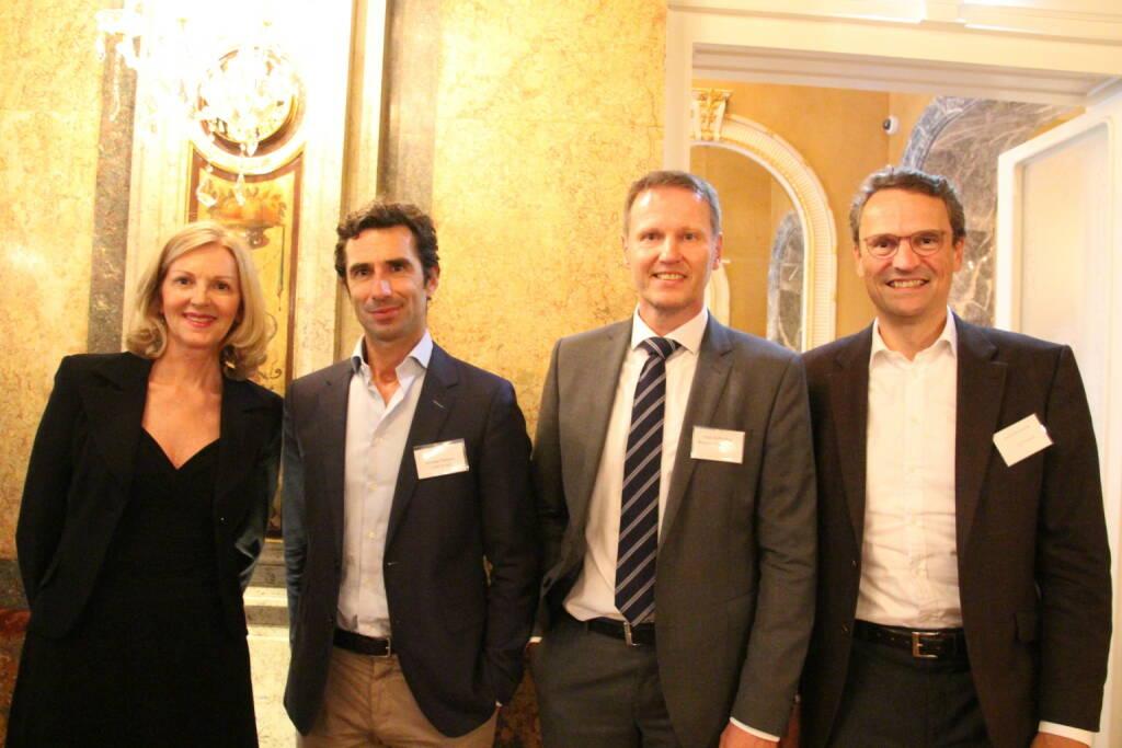 Sabine Duchaczeck, Michael Pistauer (Varta), Ralf Brühöfner, Nicolai von Engelhardt (Co-Investor AG Zürich); Bild: www.familyofficeday.at (02.07.2018)