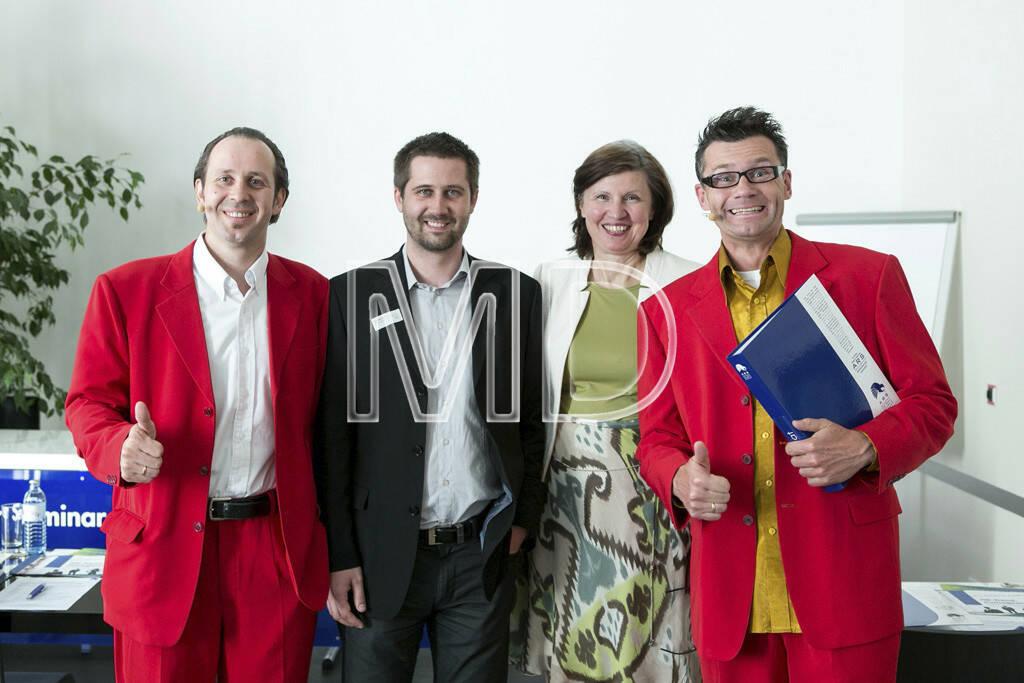 Hubert Frings (WirrSinn), Christoph Wirl (GF Magazin Training), Elisabeth Vogl-Pillhofer (GF ARS Akademie für Recht, Steuern und Wirtschaft), Bernhard Widhalm (WirrSinn), © Martina Draper (13.06.2013)