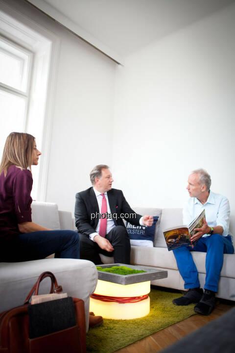 Christine Petzwinkler (BSM), Nico Baader, Christian Drastil (BSM)