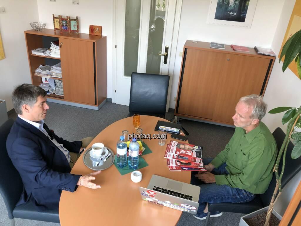 Jürgen Wahl (EXAA), Christian Drastil (BSM), © Josef Chladek (11.07.2018)