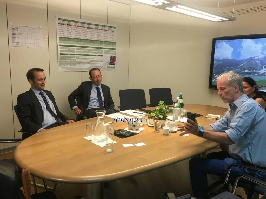 Robert Slovacek (Verbund), Klaus Hebenstreit (Verbund), Christian Drastil (BSM) (11.07.2018)