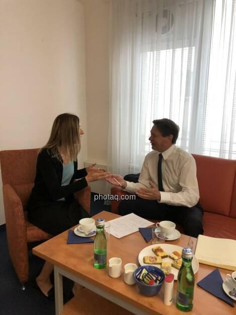 Christine Petzwinkler (BSM), Wolfgang Anzengruber (Verbund) (11.07.2018)