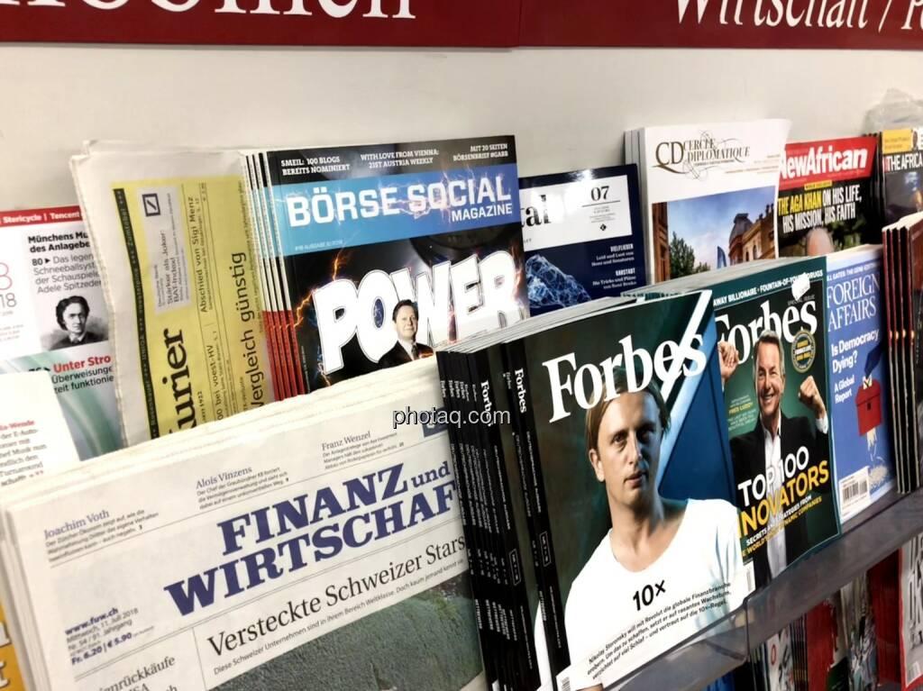 Börse Social Magazine #18, Kiosk, Morawa, Power Nummer, Anzengruber Verbund, © photaq.com (13.07.2018)
