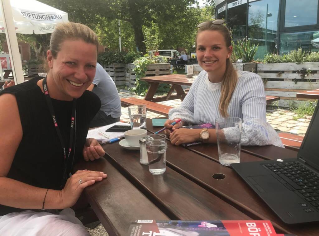 Mit Puls4-Managerinnen für den #boersesocialnetworkclub (25.07.2018)