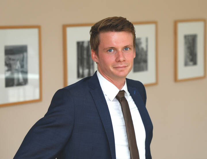 Kilian Stemberger, Mitarbeiter Research & Portfoliomanagement sowie Analyst für quantitative Portfoliokonzepte und Datenanalyse bei der DJE Kapital AG, Bild: DJE
