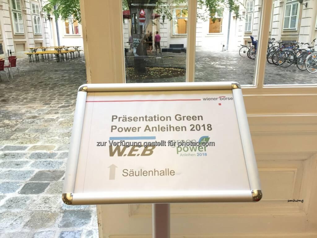 Green-Bond-Präsentation der WEB Windenergie AG in der Wiener Börse Wallnerstraße am 2.8.18 (03.08.2018)
