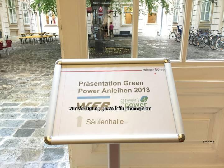 Green-Bond-Präsentation der WEB Windenergie AG in der Wiener Börse Wallnerstraße am 2.8.18