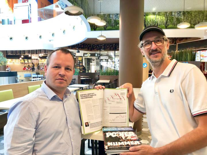 Mit Gabor Mehringer (CMC Markets) - Partner beim Smeil-Award und Autor im letzten Magazine, siehe den Artikel https://boerse-social.com/2018/08/08/einfach_aber_gut_technische_analyse_fur_einsteiger_1