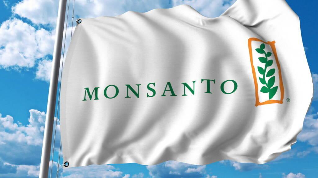 Monsanto, Flagge, Logo - https://de.depositphotos.com/162506814/stock-photo-waving-flag-with-monsanto-logo.html, &copy; <a href=