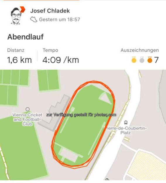 Meine erste Meile, 6:40, 4:09 Schnitt (16.08.2018)
