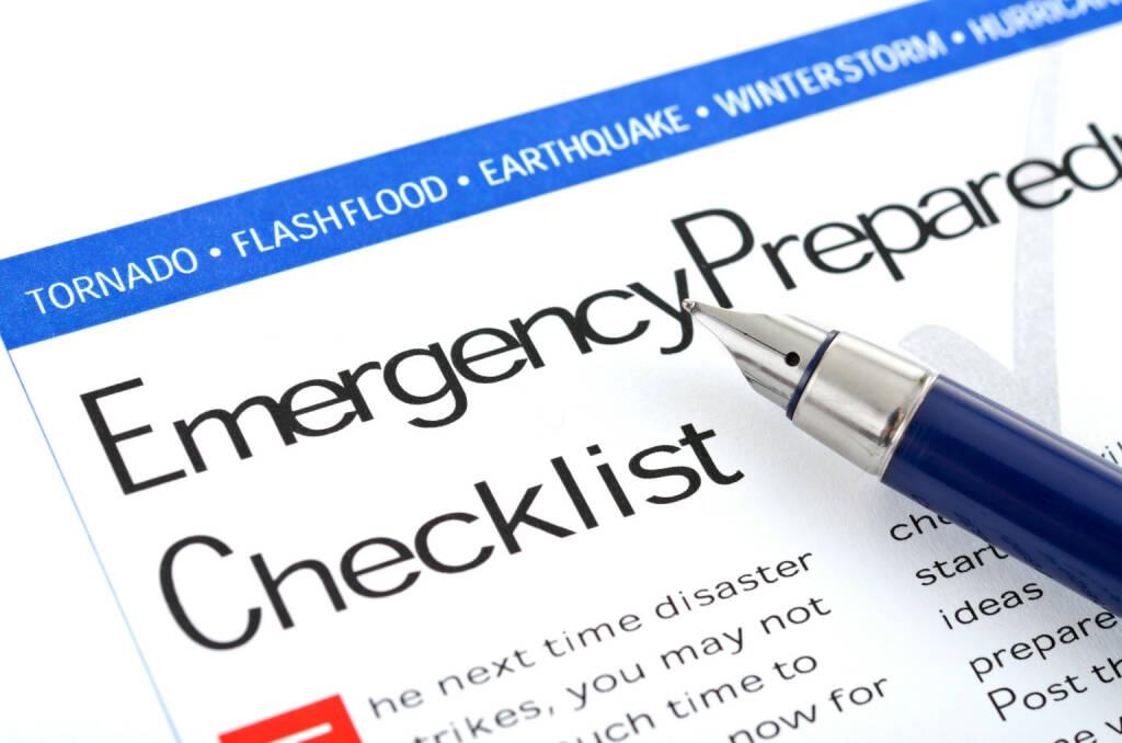 Notfallplan, Checklist - https://de.depositphotos.com/7148938/stock-photo-emergency-preparedness-checklist.html, &copy; <a href=