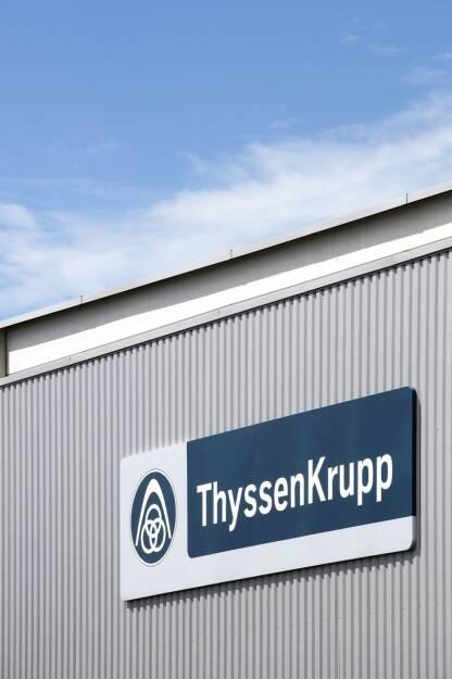 ThyssenKrupp Logo - https://de.depositphotos.com/162639154/stock-photo-thyssenkrupp-logo-on-a-wall.html, &copy; <a href=