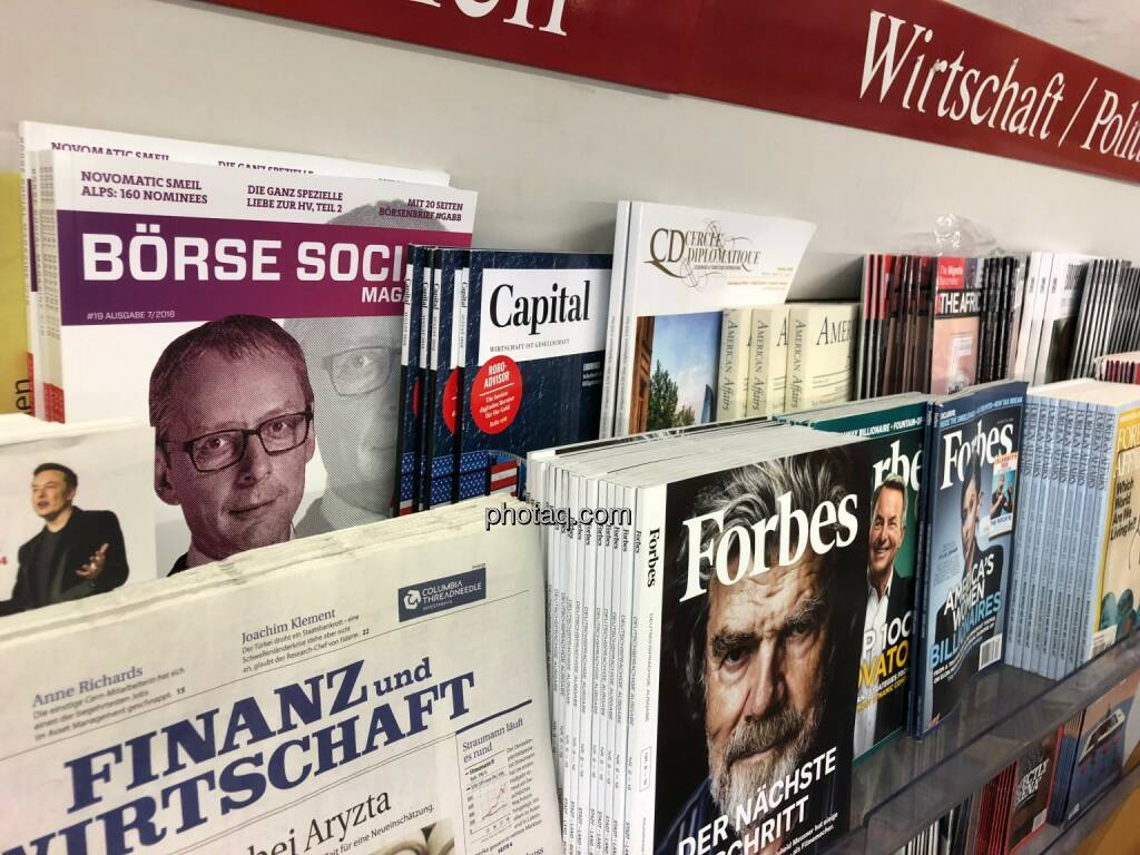 Börse Social Magazine #19, Kiosk, Morawa, Willi Celeda, © photaq.com (17.08.2018)