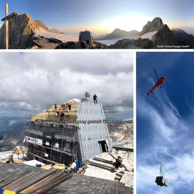 Grüße von Österreichs derzeit höchster Baustelle. Hier ist SMA unterwegs mit Solare Energie und Tesvolt. Und wo verbringt ihr euer Wochenende?  Source: http://facebook.com/SMASolarTechnology, © Aussendung (18.08.2018)