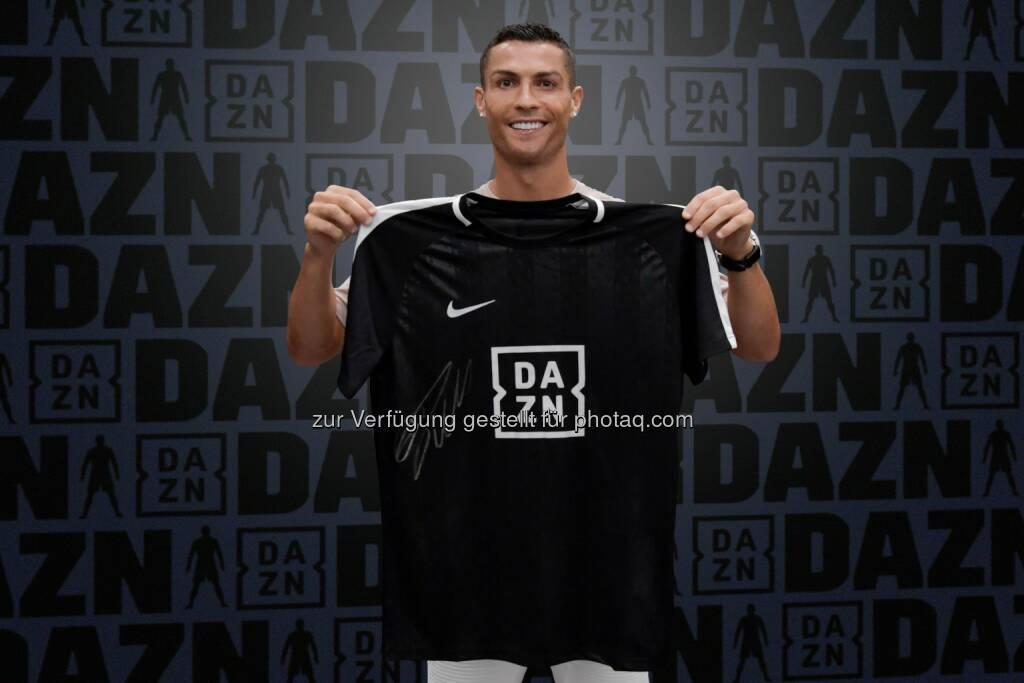 Perform Media Deutschland GmbH: DAZN stellt Cristiano Ronaldo als ersten globalen Markenbotschafter vor (Bild: Perform Media Deutschland GmbH/DAZN), © Aussendung (22.08.2018)