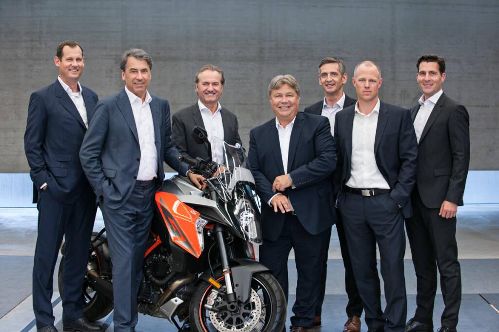 Vorstand KTM AG 2018, Stefan Pierer & Co, Copyright: KTM AG, © Aussendung (23.08.2018)