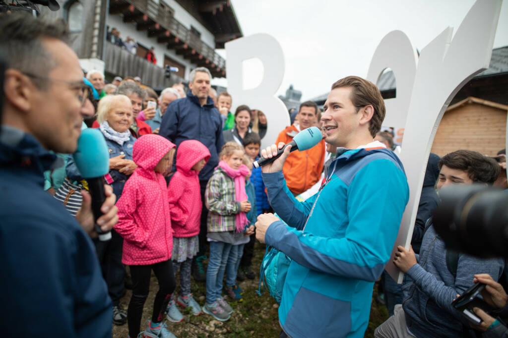 ÖVP Bundesparteileitung: Bergauf, Österreich!: Sommertour mit Bundeskanzler Sebastian Kurz und Thomas Stelzer in Oberösterreich; Fotocredit: Jakob Glaser, © Aussender (26.08.2018)