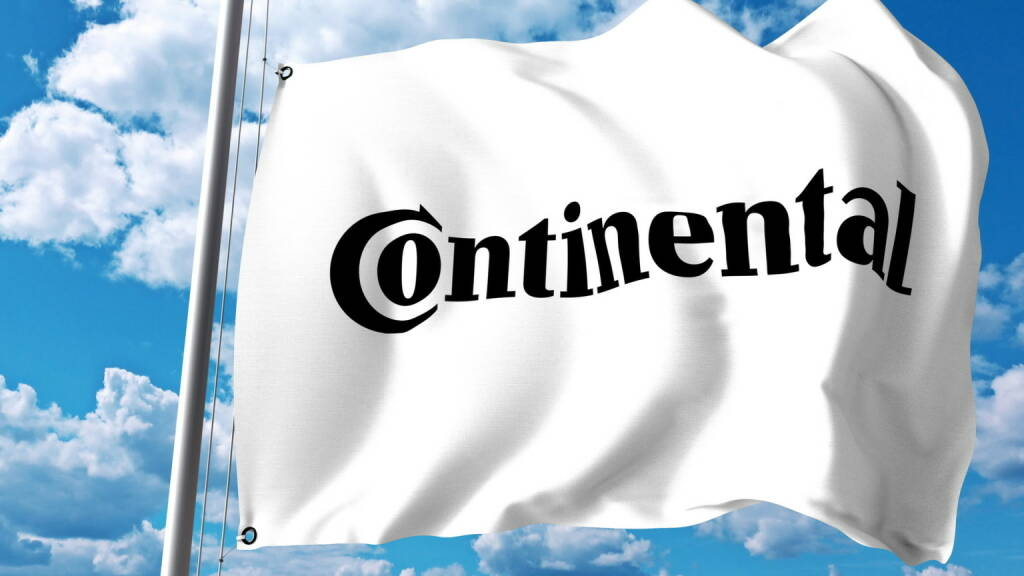 Continental Logo, Flagge - https://de.depositphotos.com/169098018/stock-photo-waving-flag-with-continental-ag.html, &copy; <a href=