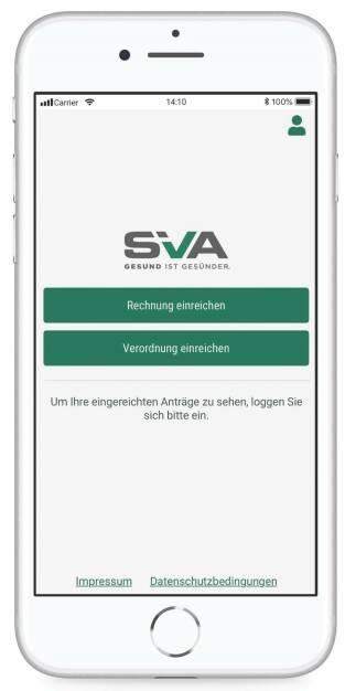 Sozialversicherungsanstalt der gewerblichen Wirtschaft: SVA launcht neue App: Rechnungen einreichen und Bewilligungen einholen ist jetzt bei der Sozialversicherung der gewerblichen Wirtschaft mobil möglich. Credit: SVO (30.08.2018)