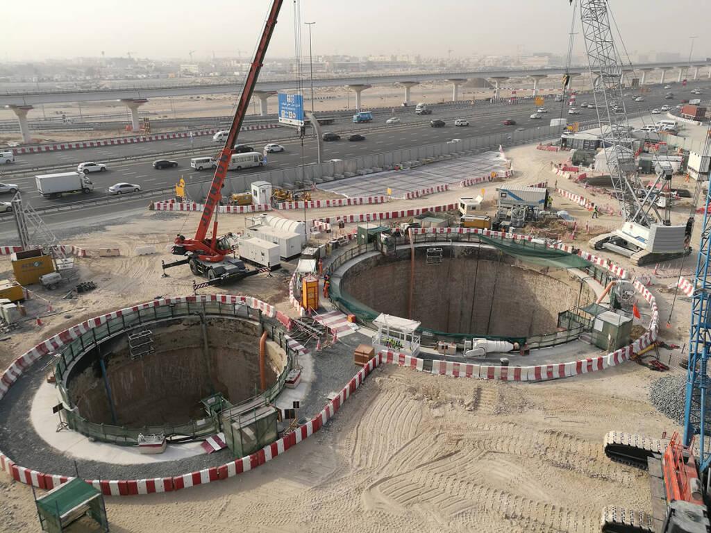 """Die Porr realisiert für die Dubai Municipality gemeinsam mit Belhasa Six Construct das """"Deep Tunnel Storm Water System"""" - Projekt. Credit: Porr, © Aussendung (03.09.2018)"""