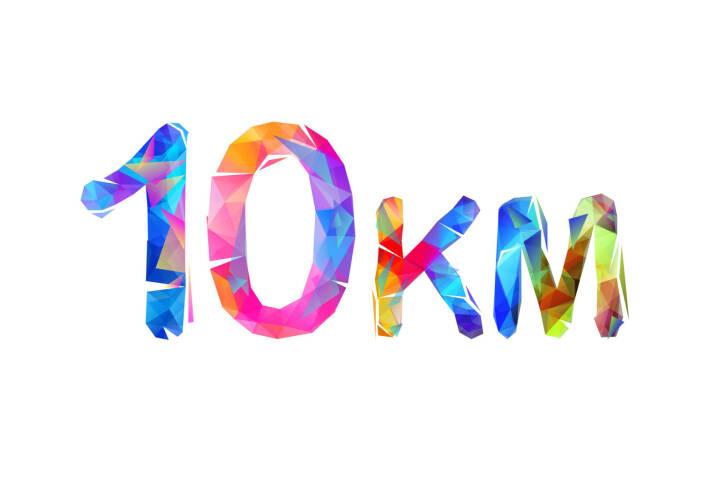 10 km, 10km, Zehn Kilometer - https://de.depositphotos.com/211118184/stock-illustration-medium-running-distance-sign-triangle.html