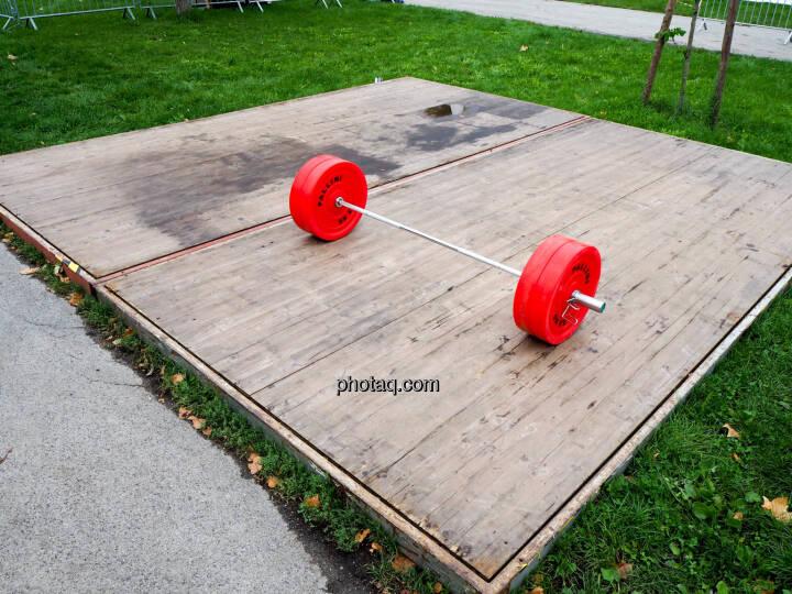 Gewicht, rot, Wiese, grün