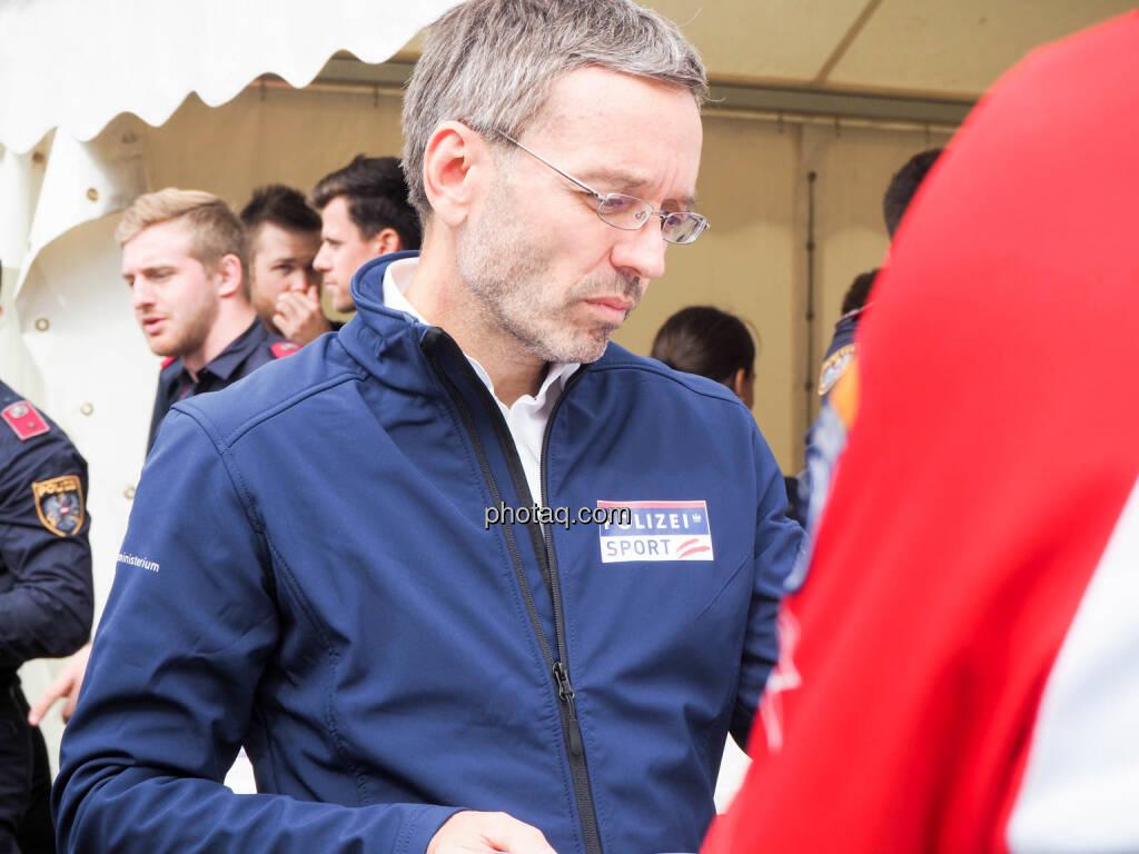 Herbert Kickl, Bundesministerium für Inneres, Polizei, Sport, © photaq.com (23.09.2018)