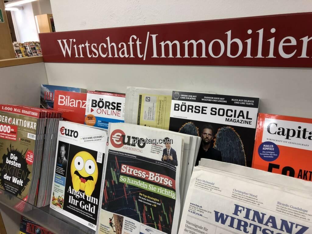 Börse Social Magazine #20, Kiosk, Morawa, Andreas H. Bitesnich, Michael Gstöttner, © photaq.com (25.09.2018)