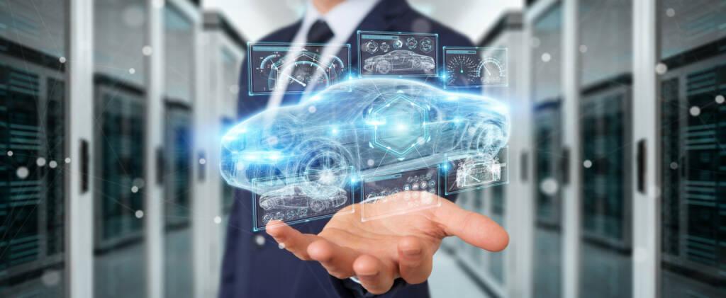 Auto, Zukunft, Visualisierung https://de.depositphotos.com/189063948/stock-photo-businessman-using-modern-smart-car.html, &copy; <a href=