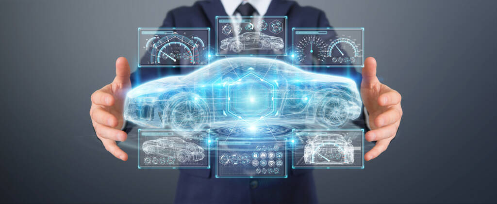 Auto, Zukunft, Visualisierung https://de.depositphotos.com/192025430/stock-photo-businessman-using-modern-smart-car.html, &copy; <a href=