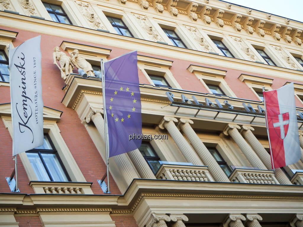 Kempinski, EU Flagge, Wien Flagge, Austrian Energy Day 2018, © photaq (27.09.2018)