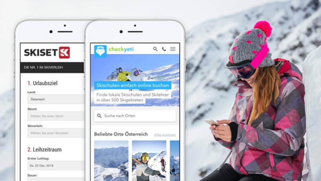 Österreichisches Start-up CheckYeti schließt strategische Partnerschaft mit  Ski- und Snowboardverleih Skiset, Credit: CheckYeti (09.10.2018)