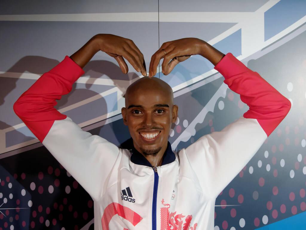 Madame Tussauds Blackpool, UK 2018. Sir Mohamed Muktar Jama Mo Farah, is the United Kingdom's most successful distance runner - https://de.depositphotos.com/209247888/stock-photo-blackpool-january-madame-tussauds-blackpool.html, &copy; <a href=