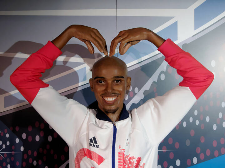 Madame Tussauds Blackpool, UK 2018. Sir Mohamed Muktar Jama Mo Farah, is the United Kingdom's most successful distance runner - https://de.depositphotos.com/209247888/stock-photo-blackpool-january-madame-tussauds-blackpool.html