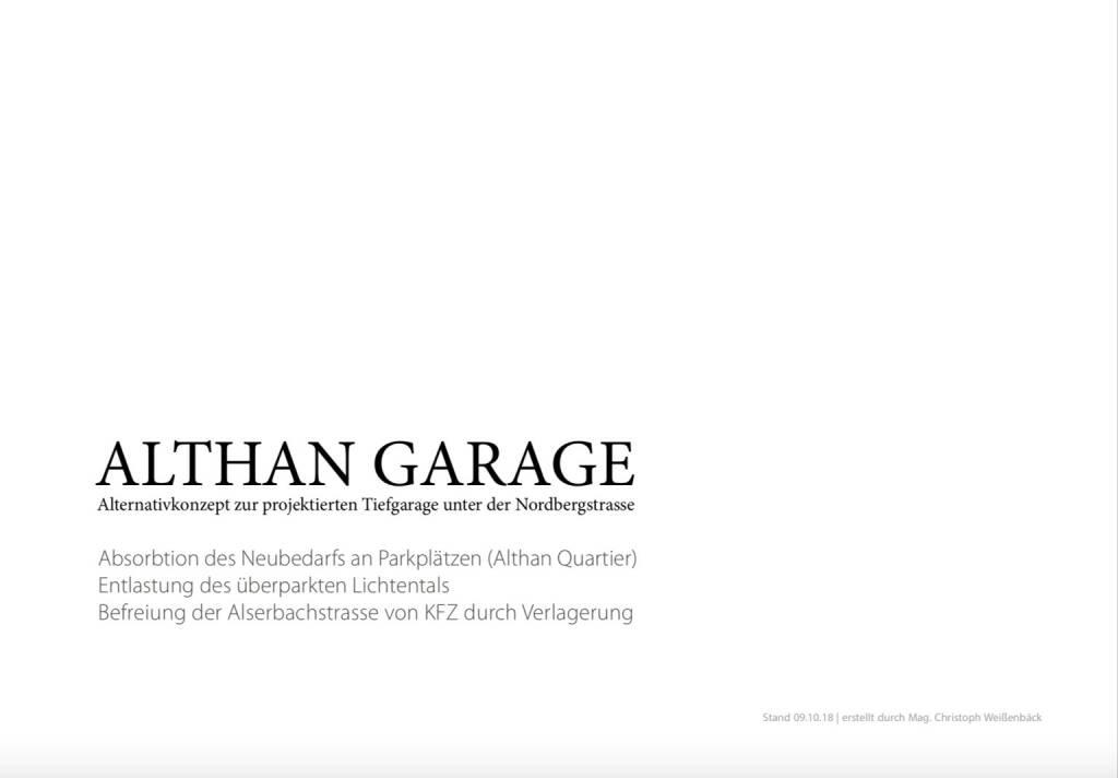 Althangrund: Althan Garage alternativ (14.10.2018)