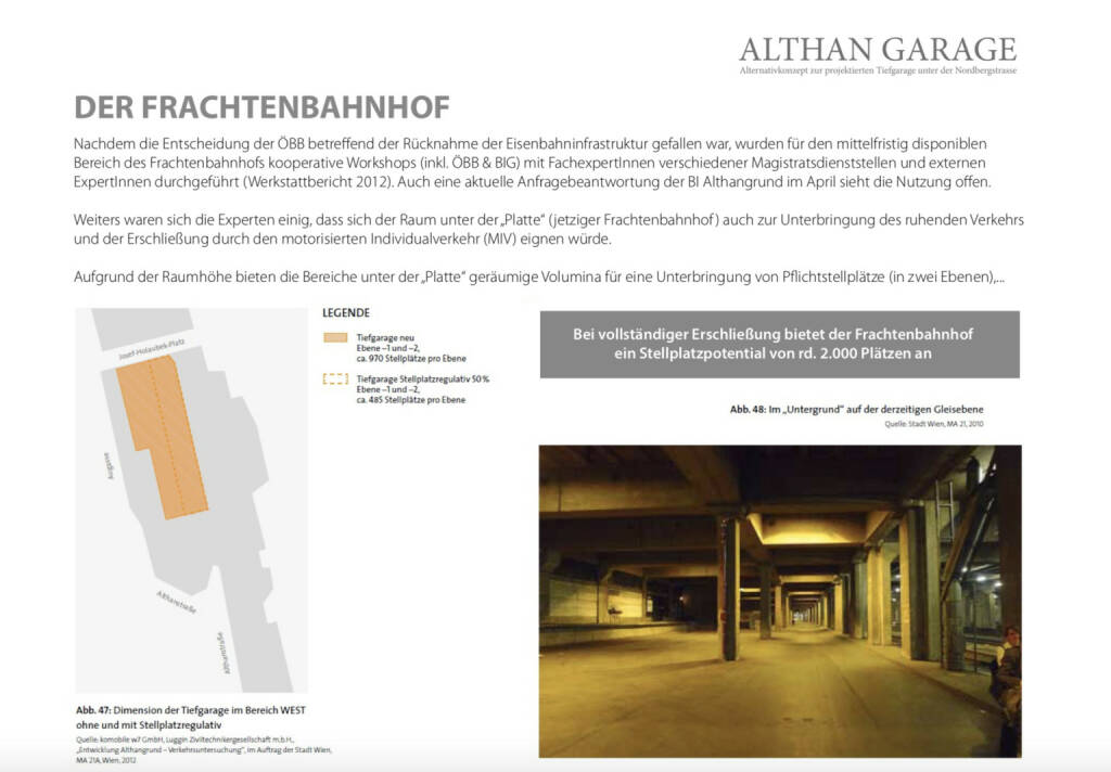 Althangrund: Parken am Frachtenbahnhof (14.10.2018)