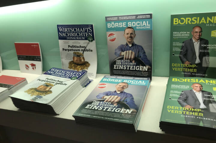 Börse Social Magazine in der Wiener Börse