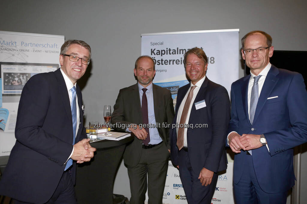 Harald Hagenauer (Post AG), Andreas Gerstenmayer (AT&S), © C.I.R.A./APA-Fotoservice/Bargad Fotograf/in: Nadine Bargad (18.10.2018)
