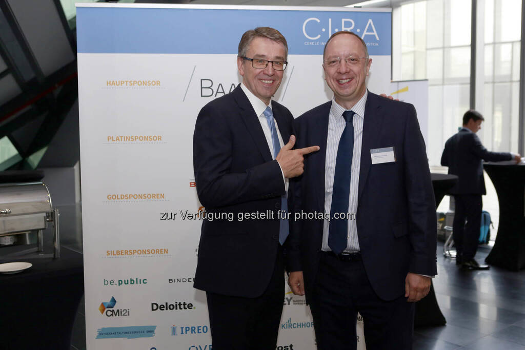 Harald Hagenauer (Post AG), Roman Eisenschenk (Kepler Cheuvreux), © C.I.R.A./APA-Fotoservice/Bargad Fotograf/in: Nadine Bargad (18.10.2018)