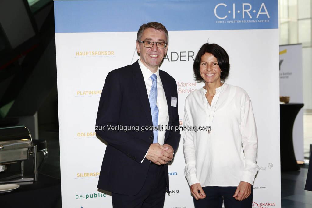 Harald Hagenauer (Post AG), Gerlinde Kaltenbrunner, © C.I.R.A./APA-Fotoservice/Bargad Fotograf/in: Nadine Bargad (18.10.2018)