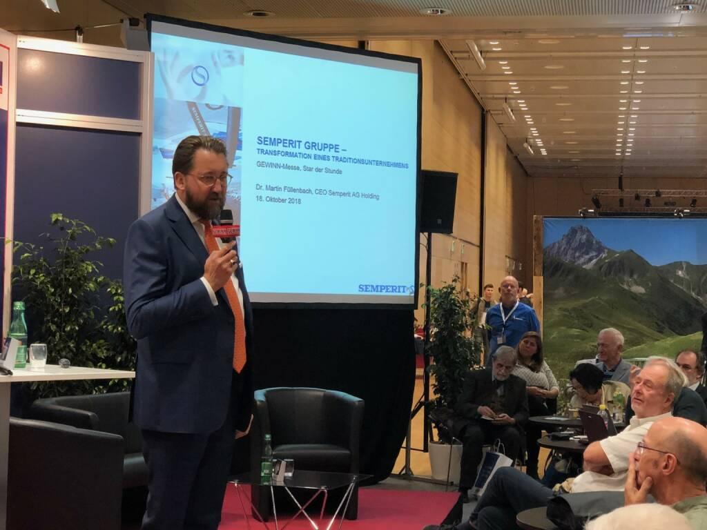 Semperit-CEO Martin Füllenbach als Star der Stunde bei der Gewinn Messe (18.10.2018)