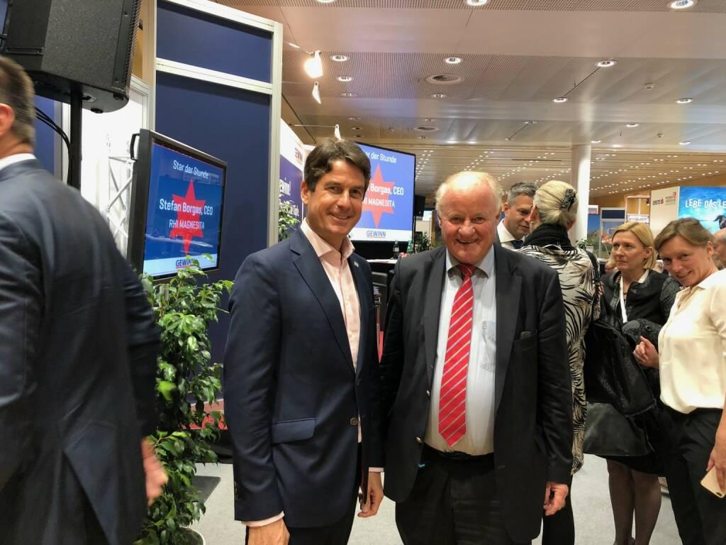 RHI Magnesita-CEO Stefan Borgas, Georg Wailand (Gewinn) (18.10.2018)