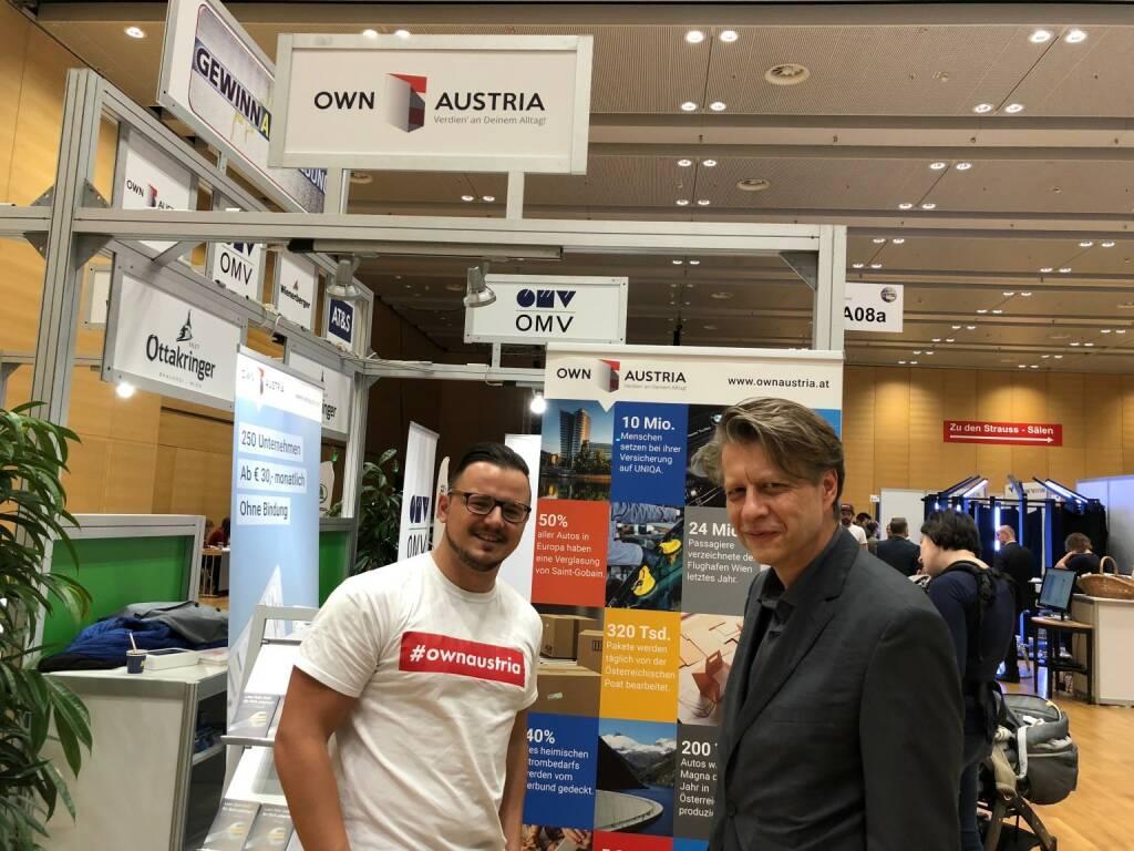 Gewinn Messe: Own Austria-Chefredakteur Michael J. Plos, Robert Gillinger (Börse Express) (18.10.2018)