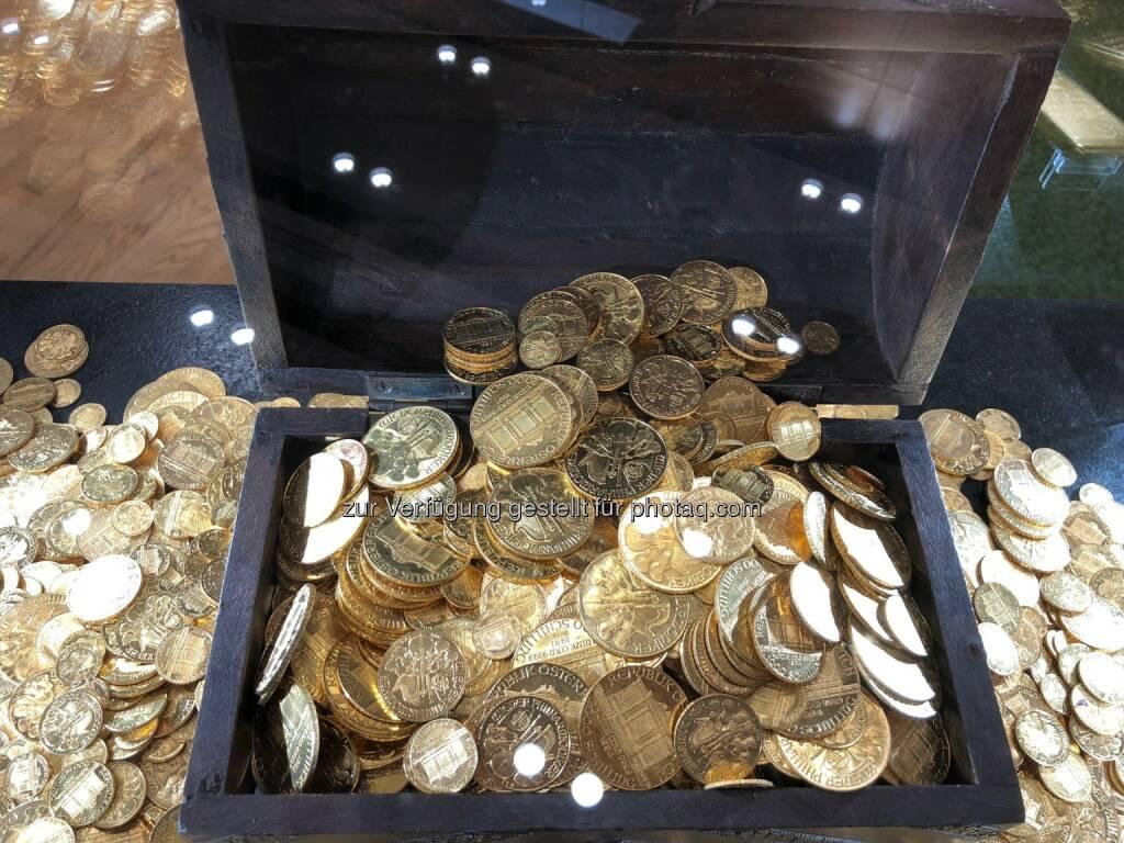 Goldschatz, Münzen, Münze Österreich, Goldmünzen (18.10.2018)
