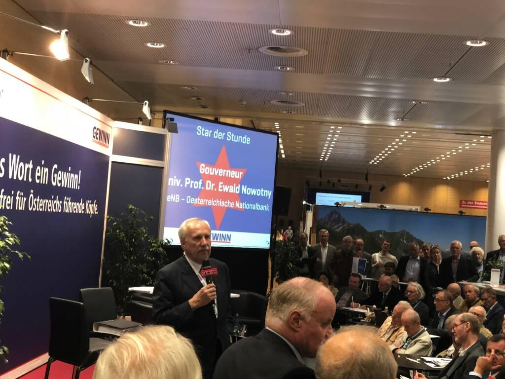 OeNB-Gouverneur Ewald Nowotny (18.10.2018)