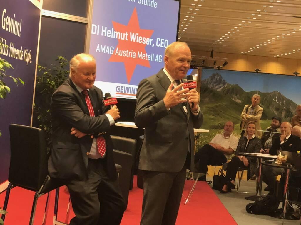 Amag-Chef Helmut Wieser als Star der Stunde auf der Gewinn Messe (18.10.2018)