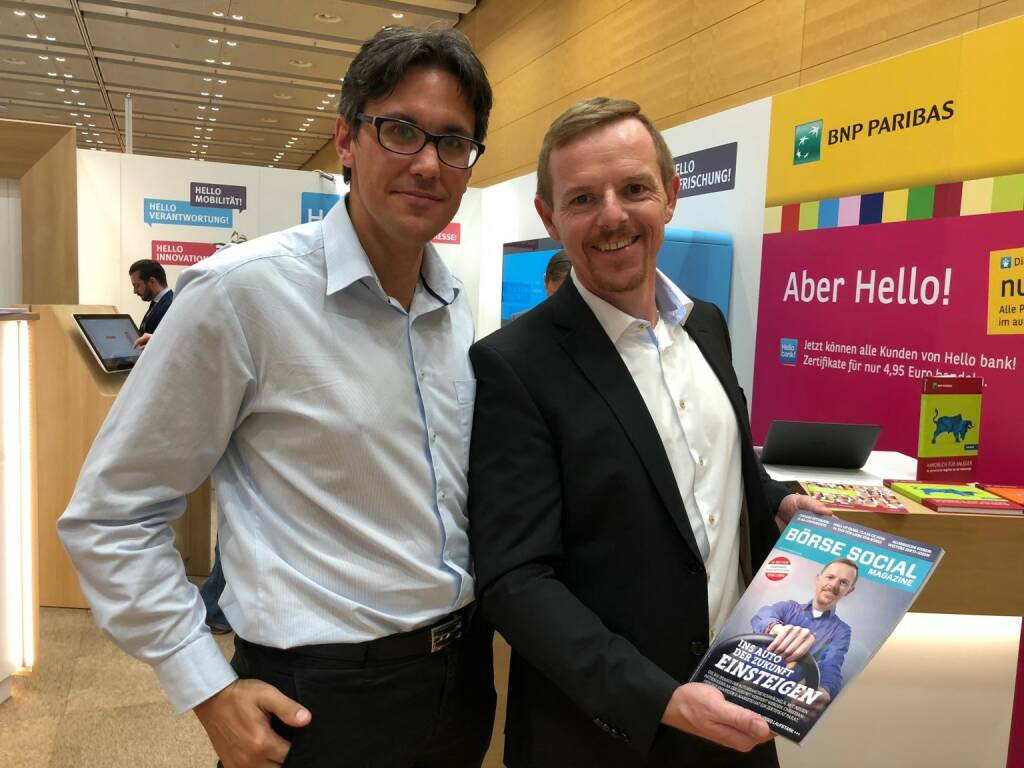 Christian-Hendrik Knappe, Deutsche Bank x-Markets (rechts) mit dem Börse Social Magazine (18.10.2018)