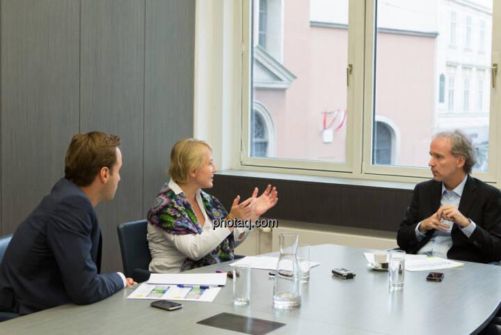 Philipp Arnold, Heike Arbter (RCB), Christian Drastil (CD Comm.)
