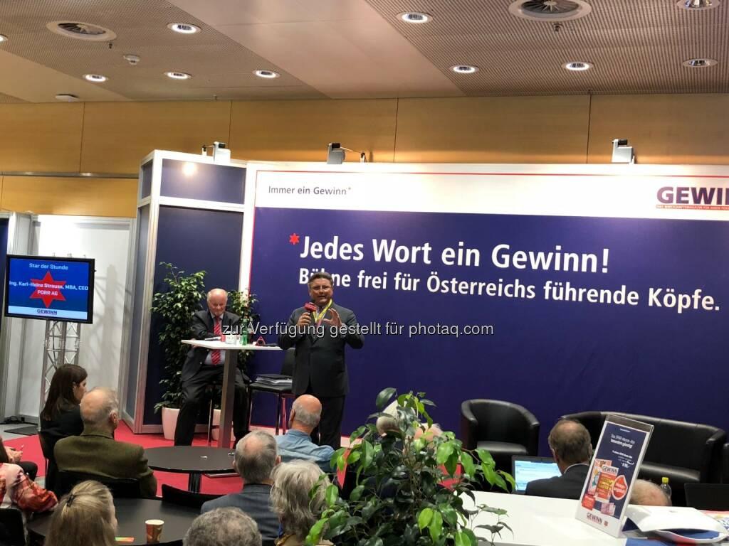 Porr-Chef Karl-Heinz Strauss als Star der Stunde (18.10.2018)
